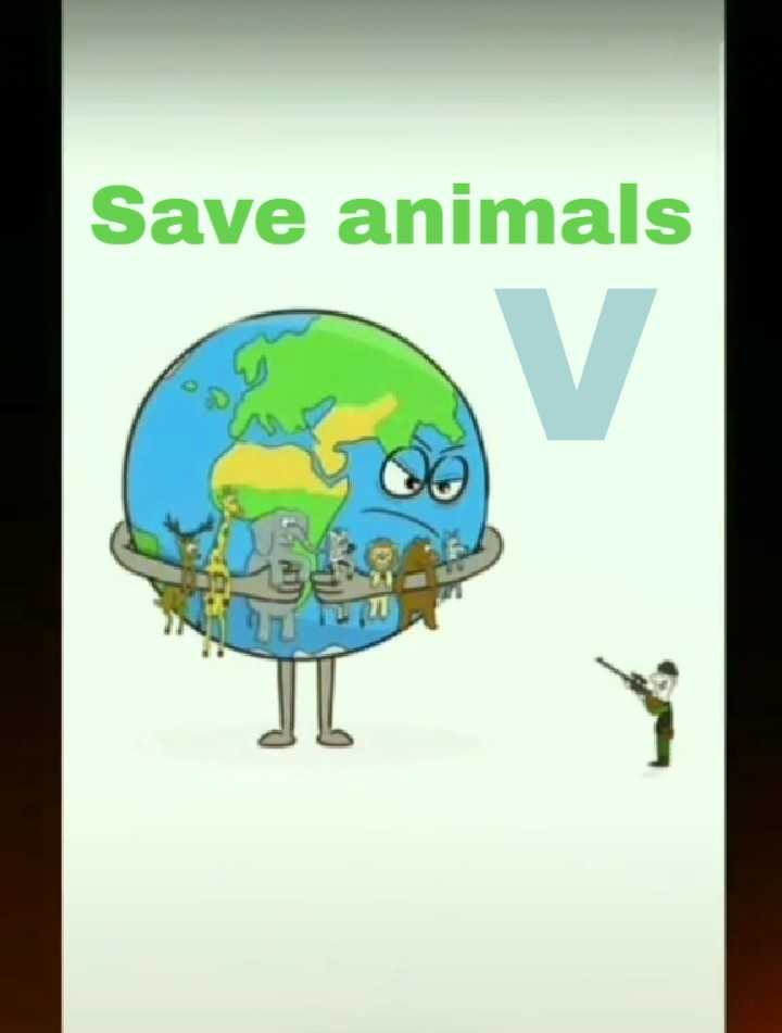 save tree 🌲🌳🌴🏝️ save environment 🌍🌍 - Save animals - ShareChat