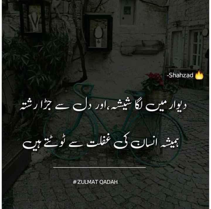 😥sed😥 - - Shahzad دیوار میں لگا شیشہ ، اور دل سے جڑا رشتہ ہمیشہ انسان کی غفلت سے ٹوٹتے ہیں # ZULMAT QADAH - ShareChat