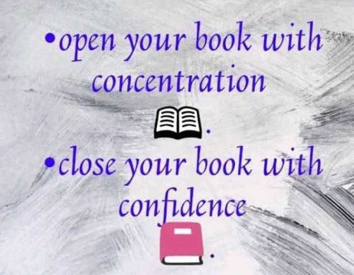 self confidence - • open your book with concentration •close your book with confidence - ShareChat