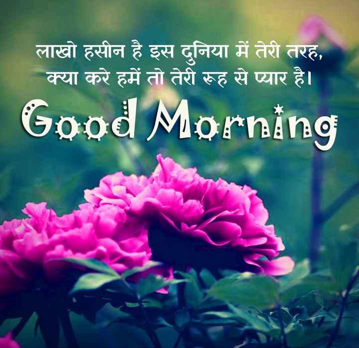 seth ji - लाखो हसीन है इस दुनिया में तेरी तरह , क्या करे हमें तो तेरी रूह से प्यार है । Good Morning | •• - ShareChat