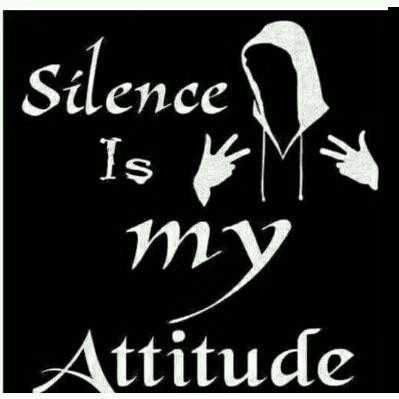 share chat for question - Silence Is KM ту Attitude - ShareChat