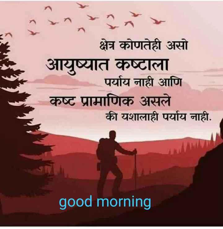 shetkari - क्षेत्र कोणतेही असो आयुष्यात कष्टाला पर्याय नाही आणि कष्ट प्रामाणिक असले की यशालाही पर्याय नाही . good morning - ShareChat