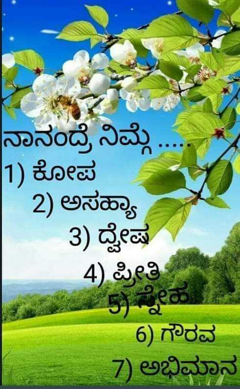 sneha - ನಾನಂದ್ರೆ ನಿಮ್ಮೆ . 1 ) ಕೋಪ | 2 ) ಅಸಹ್ಯಾ 3 ) ದ್ವೇಷ 4 ) ಪ್ರೀತಿ 6 ) ಗೌರವ 7 ) ಅಭಿಮಾನ - ShareChat