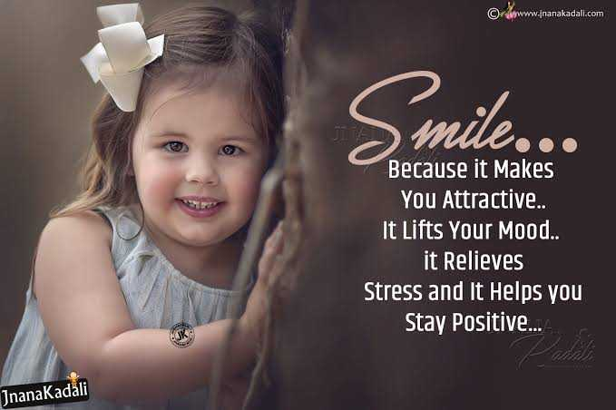 soo...cute😍😍😘😘😊😊💞💞 - © www . jnanakadali . com JITA Because it makes You Attractive . . It Lifts Your Mood . . it Relieves Stress and It Helps you Stay Positive . . . JnanaKadāli - ShareChat