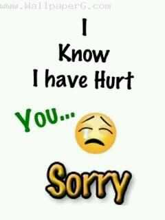 sorry 😂😂😂 - tot Wallpaper . com Know I have Hurt you . se © Sorry - ShareChat