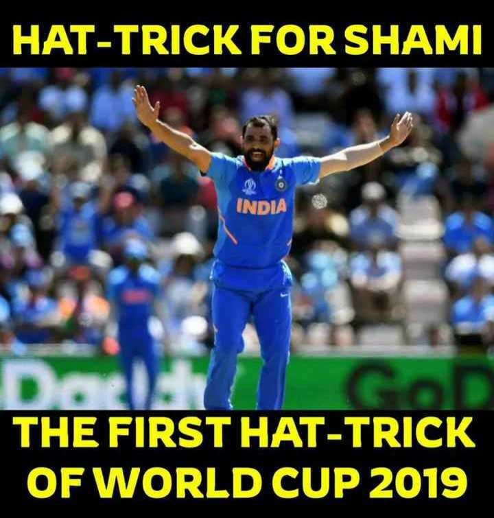 srikanth - HAT - TRICK FOR SHAMI INDIA THE FIRST HAT - TRICK OF WORLD CUP 2019 - ShareChat