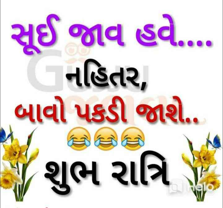 subh ratri - સૂઈ જાવ હવે . . . . નહિતર , | બાવો પકડી જાશે . . જ શુભ રાત્રિ - ShareChat