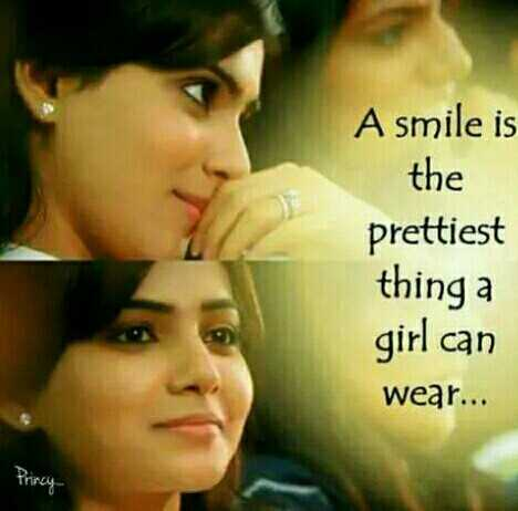 sunday morning smile😃😃 - A smile is the prettiest thing a girl can wear . . . Princiy - ShareChat