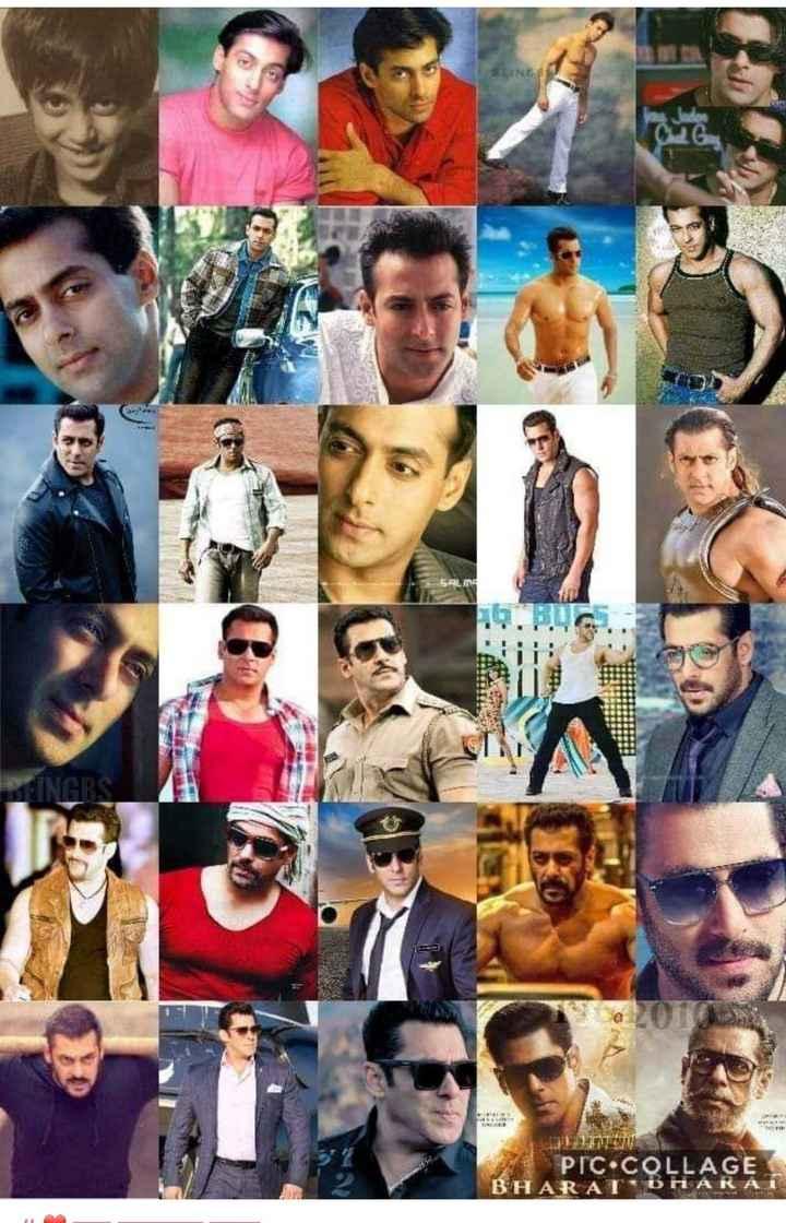 superstar salman khan - TENCES INGRS BTW PIC . COLLAGE BHARATE - ShareChat