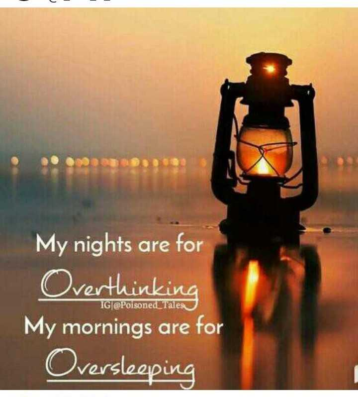 tamil mems - My nights are for Overthinking My mornings are for Oversleeping eruRU IG @ Poisoned Tales - ShareChat