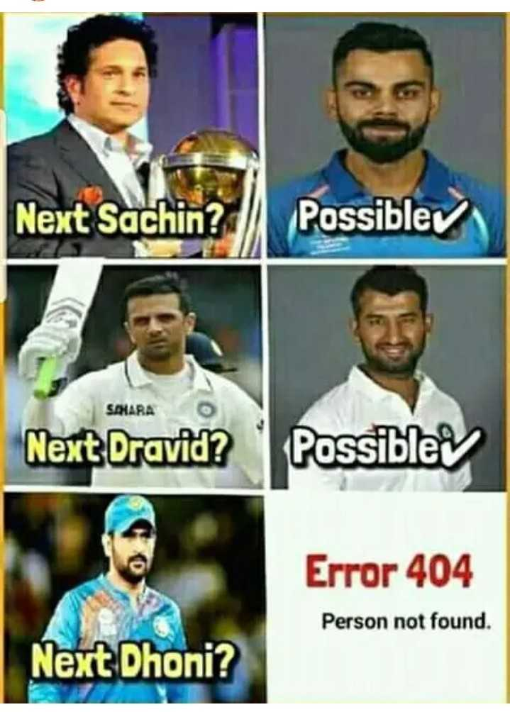 thala dhoni - Next Sachin ? Possible SAHARA Next Dravid ? Possible Error 404 Person not found . Next Dhoni ? - ShareChat