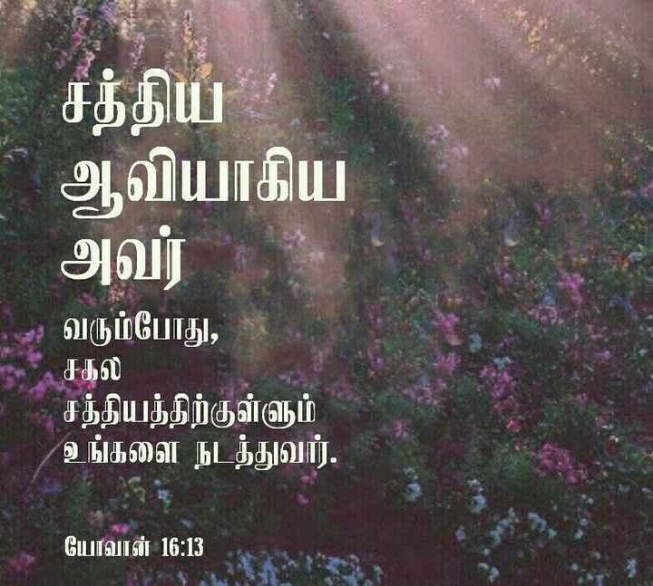 thank u jesus... - சத்திய ' ஆவியாகிய அவர் தம் வரும்போது , சகல சத்தியத்திற்குள்ளும் உங்களை நடத்துவார் . யோவான் 16 : 13 - ShareChat