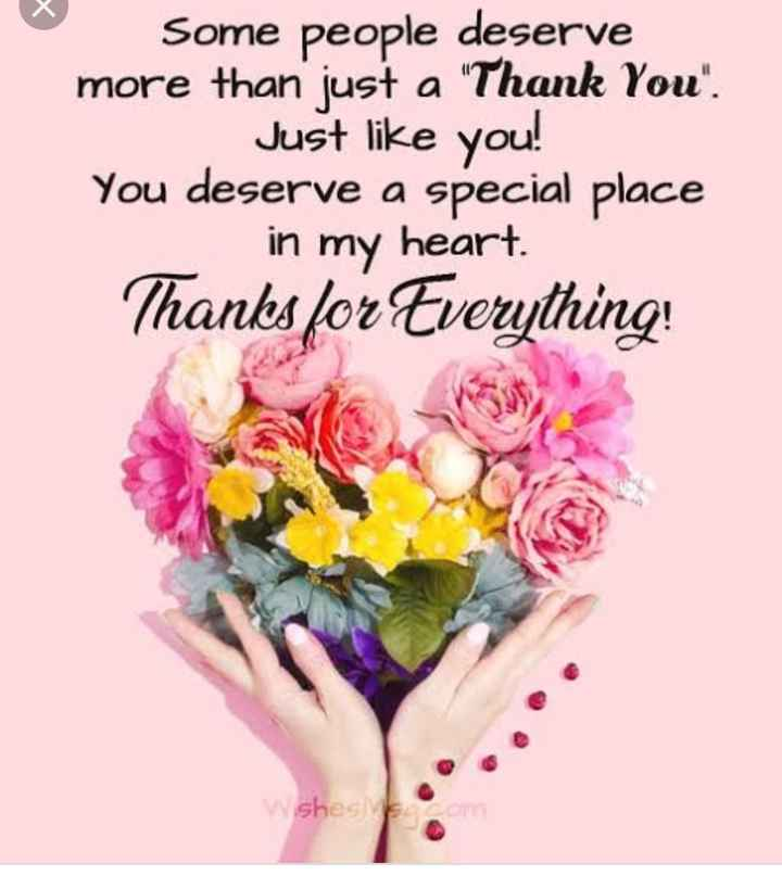 thank you  so much... - Some people deserve more than just a Thank You . Just like you ! You deserve a special place in my heart Thanks for Everything ! w shes - ShareChat