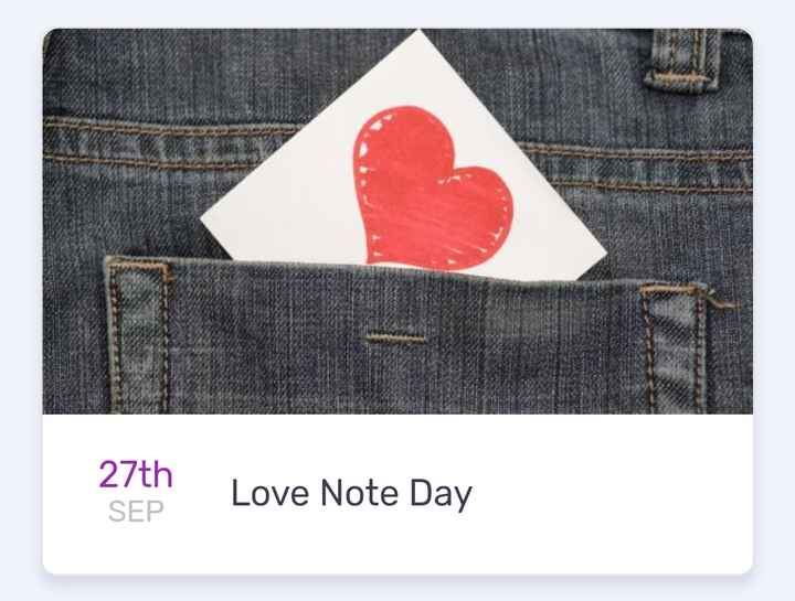 today's events ⌛ - 27th SEP Love Note Day - ShareChat