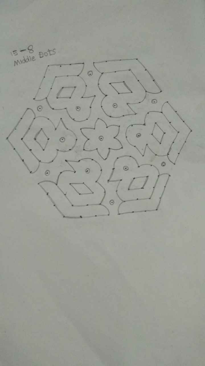 today kolam 😜 - 15 - 8 Middle Dots - ShareChat