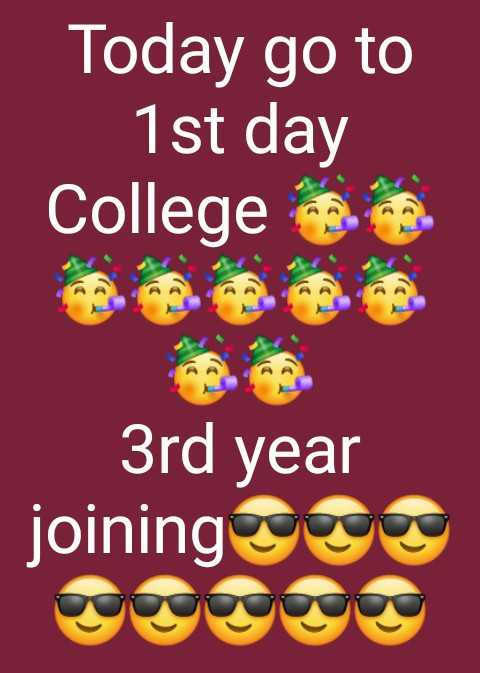 today status - Today go to 1st day College 3rd year joining - ShareChat