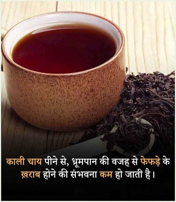 true fact😃 - काली चाय पीने से , धूमपान की वजह से फेफड़े के ख़राब होने की संभवना कम हो जाती है । - ShareChat