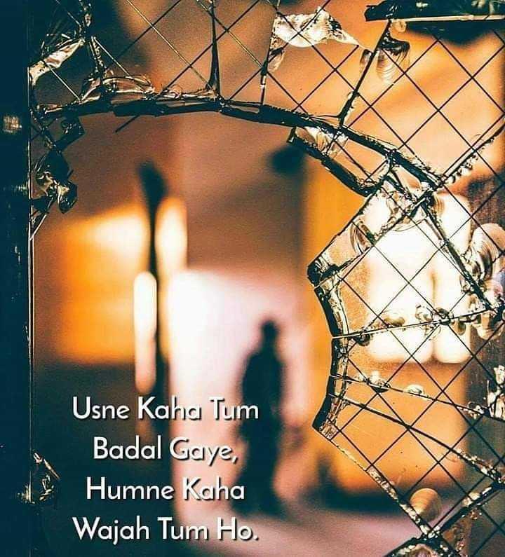 💓 true love 💓 - Usne Kaha Tum Badal Gaye , Humne Kaha Wajah Tum Ho . - ShareChat