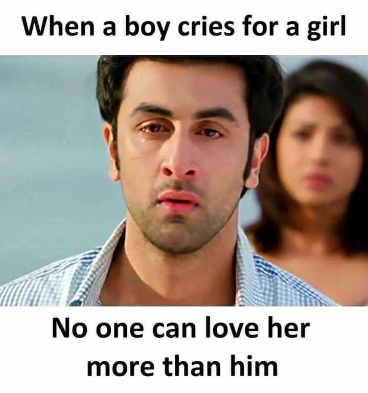 💓 true love 💓 - When a boy cries for a girl No one can love her more than him - ShareChat