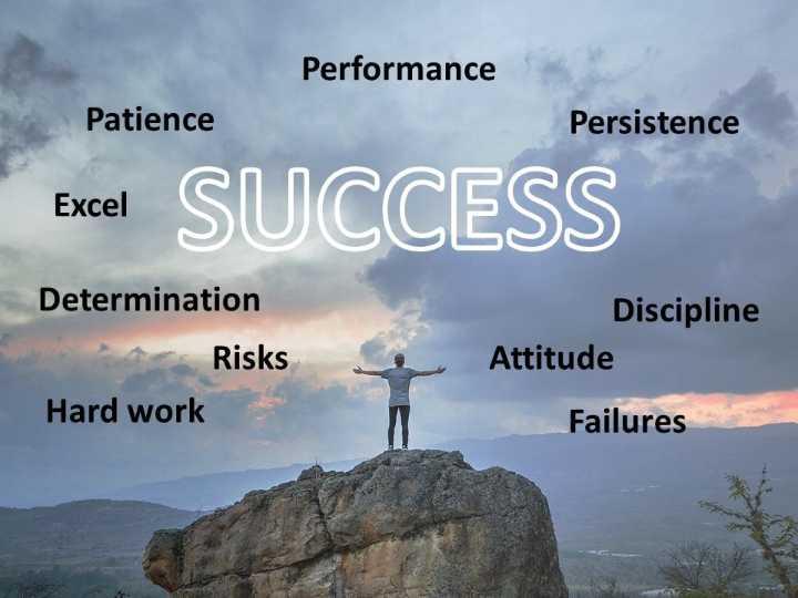 watsapp dp - Performance Patience Persistence Excel Excel SUCCESS Determination 1 Risks Hard work e Discipline Attitude Failures - ShareChat