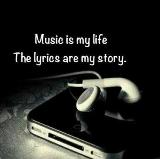 world music day 🎼 - Music is my life The lyrics are my story . - ShareChat