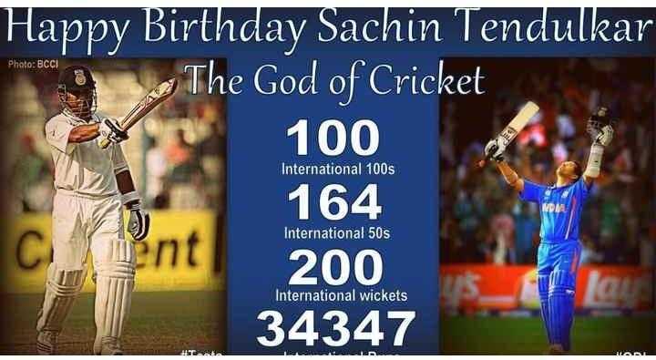 world toughest final - Photo : BCCI Happy Birthday Sachin Tendulkar e God of Cricket 100 164 International 100s International 50s 200 International wickets 34347 - ShareChat