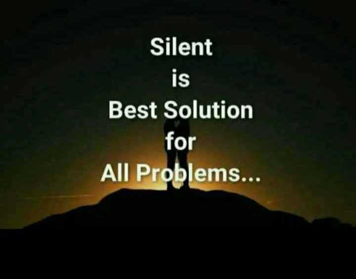 👌👌सुथरी बात अर सोच - Silent is Best Solution for All Problems . . . - ShareChat